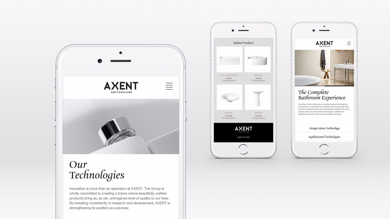AXENT brand website