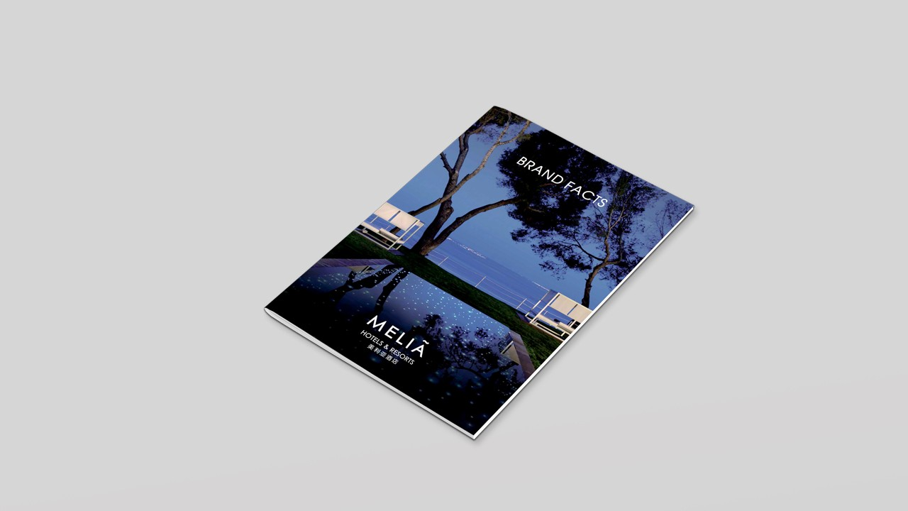 Brand book design for Meliá Hotels & Resorts