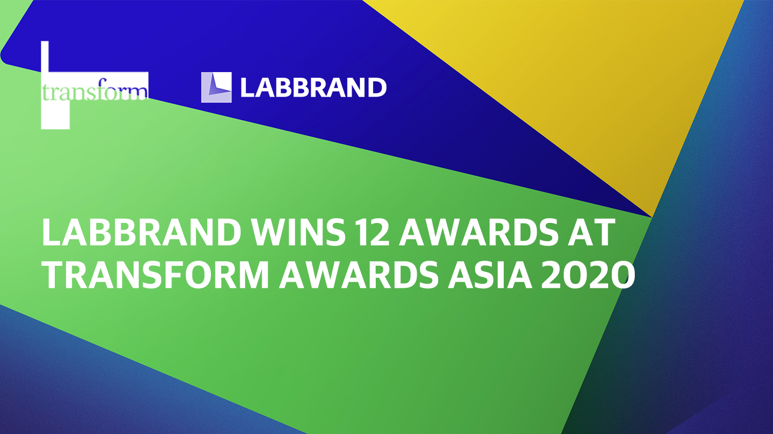 Labbrand Wins at the Transform Awards Asia 2020