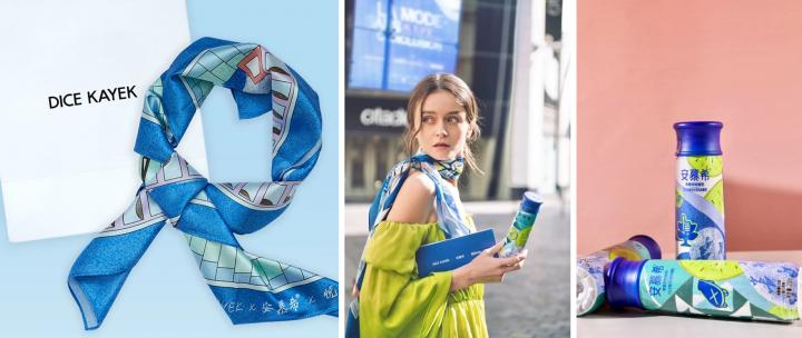 Co-branded Scarf by AMBROSIAL, Dice Kayek and Condé Nast Traveler China